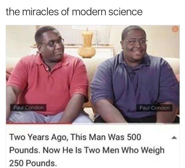 Miracles of modern science - meme
