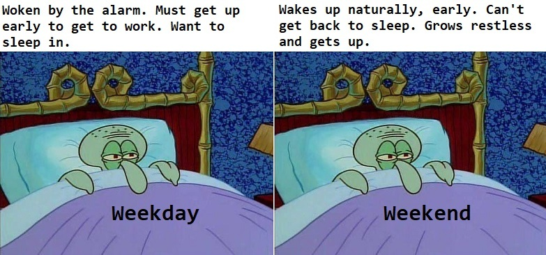 I just want to sleep in - meme