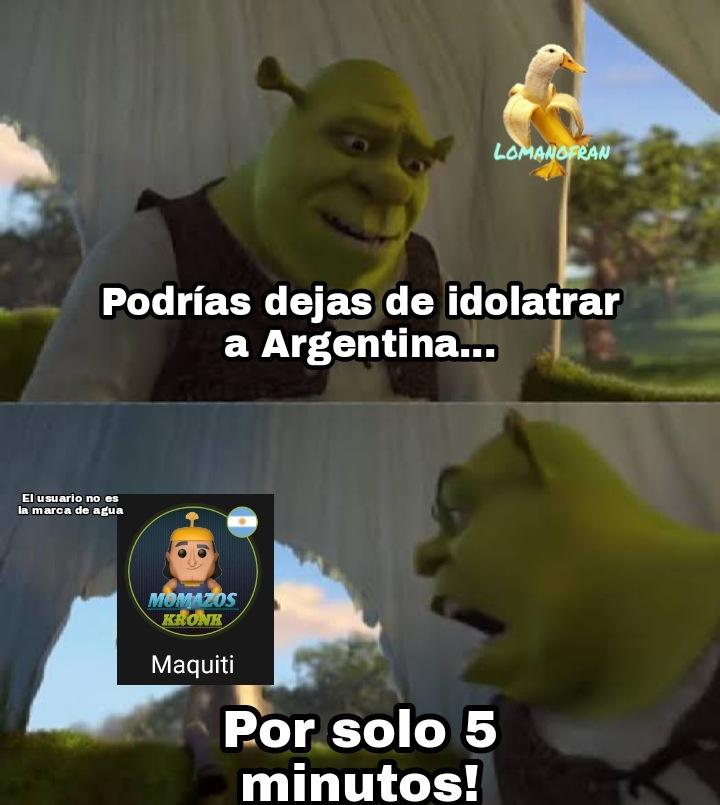 Si no lo entiendes, es un usuario que trata a Argentina como si fuera el país perfecto, sin Yolotrolls, sin papulinces, sin jugadores de free fire y sin personas color carton - meme