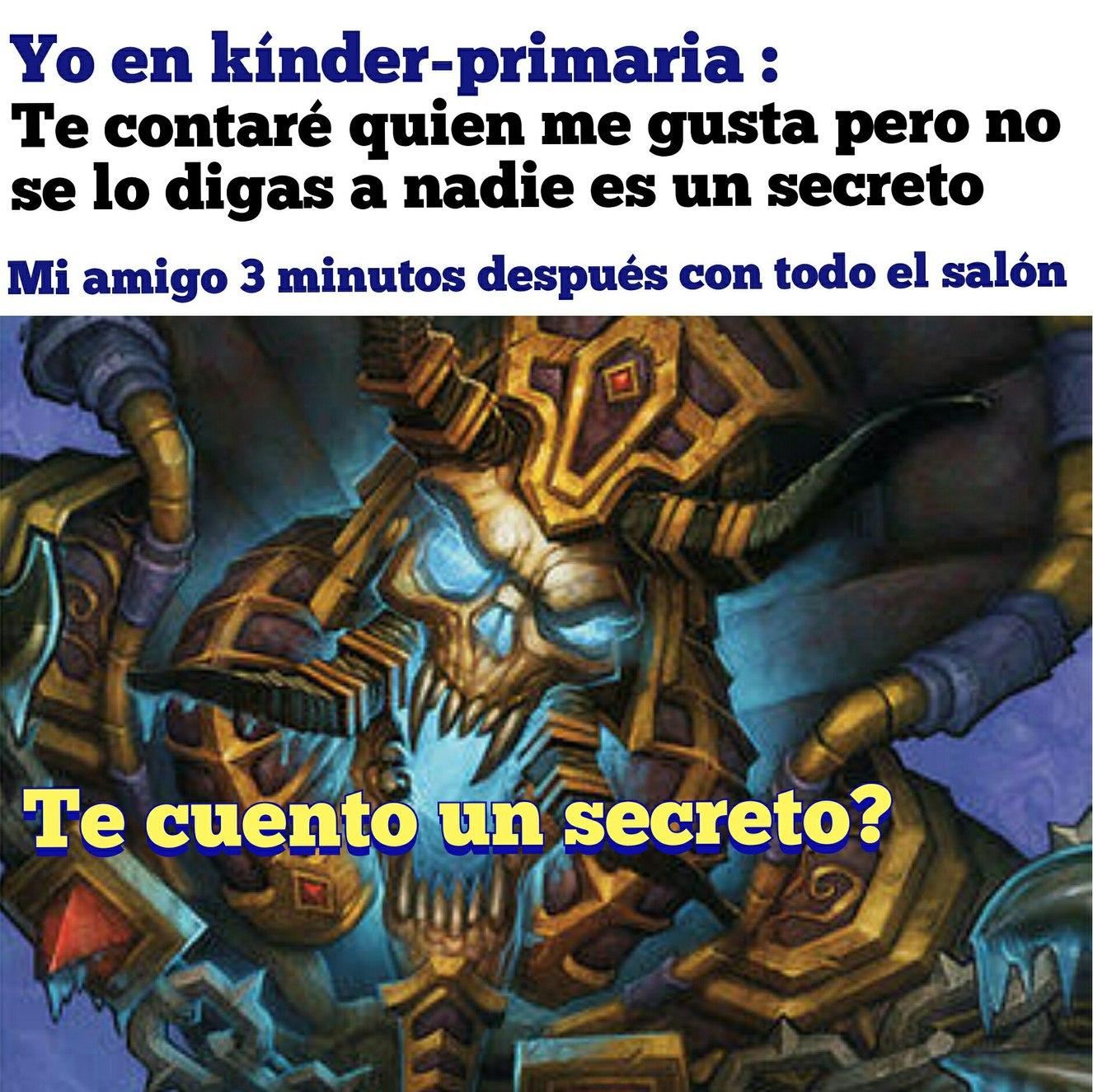 Te cuento un secreto? - meme