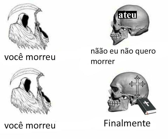 A morte é a salvação - meme