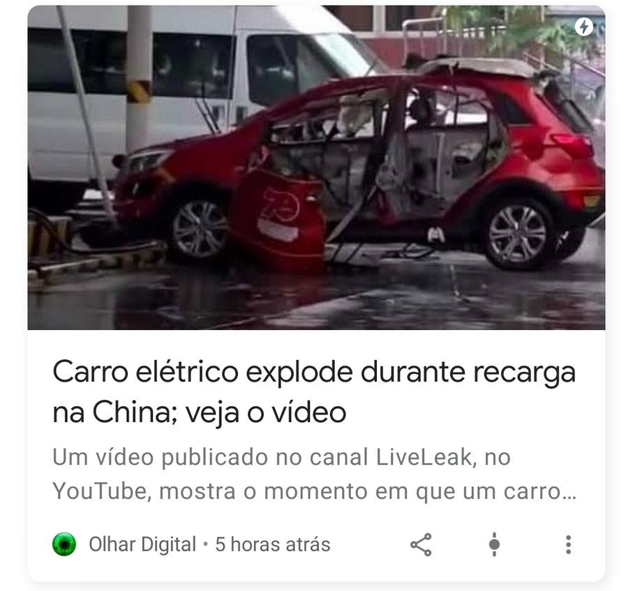 Carro com Bateria da Samsungkk - meme