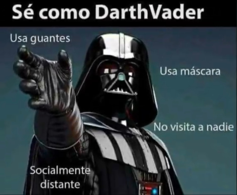 Se como Darth Vader - meme