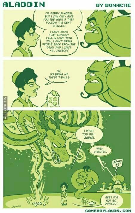 Aladdin being an asshole - meme