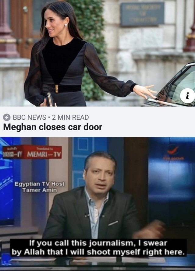 Megan Markle closes car door - meme