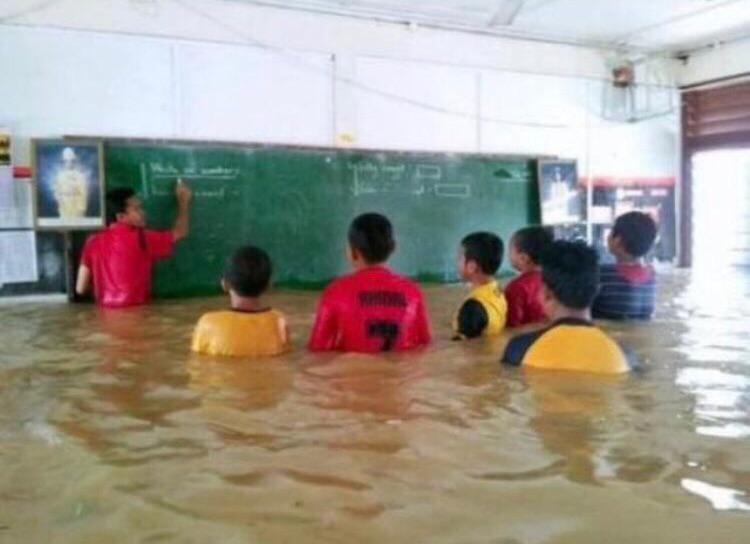 aula de natação - meme