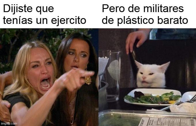 Esperemos que el plástico no fuera de china y el gato se infecte de coronavirus - meme