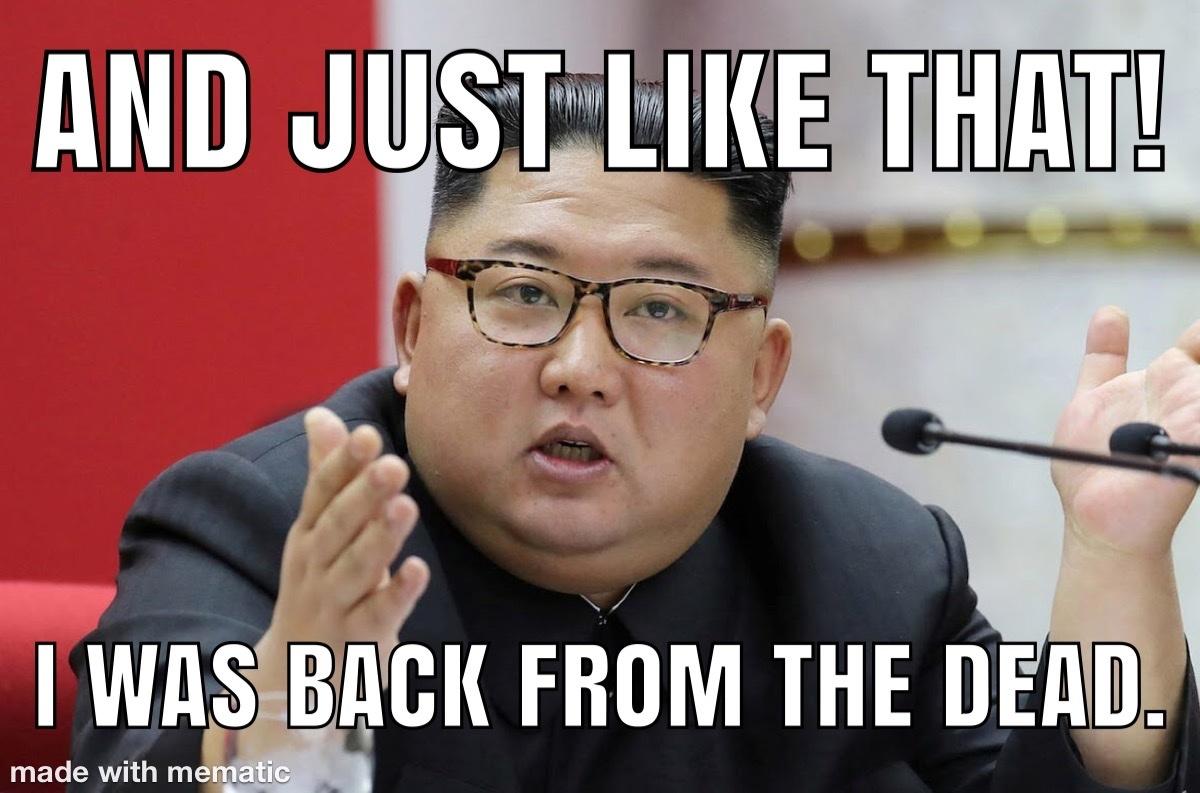kimjongunisalive - meme