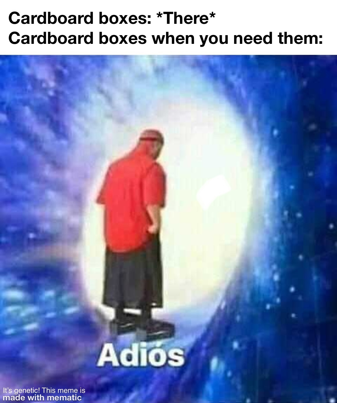 Title be like Adiós - meme