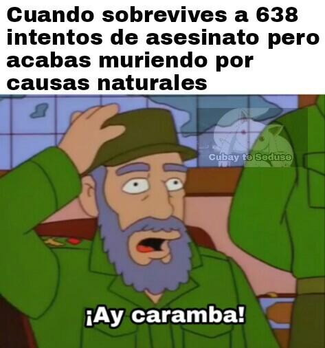 Pensabas que sería Bart, pero era yo, ¡Castro! - meme