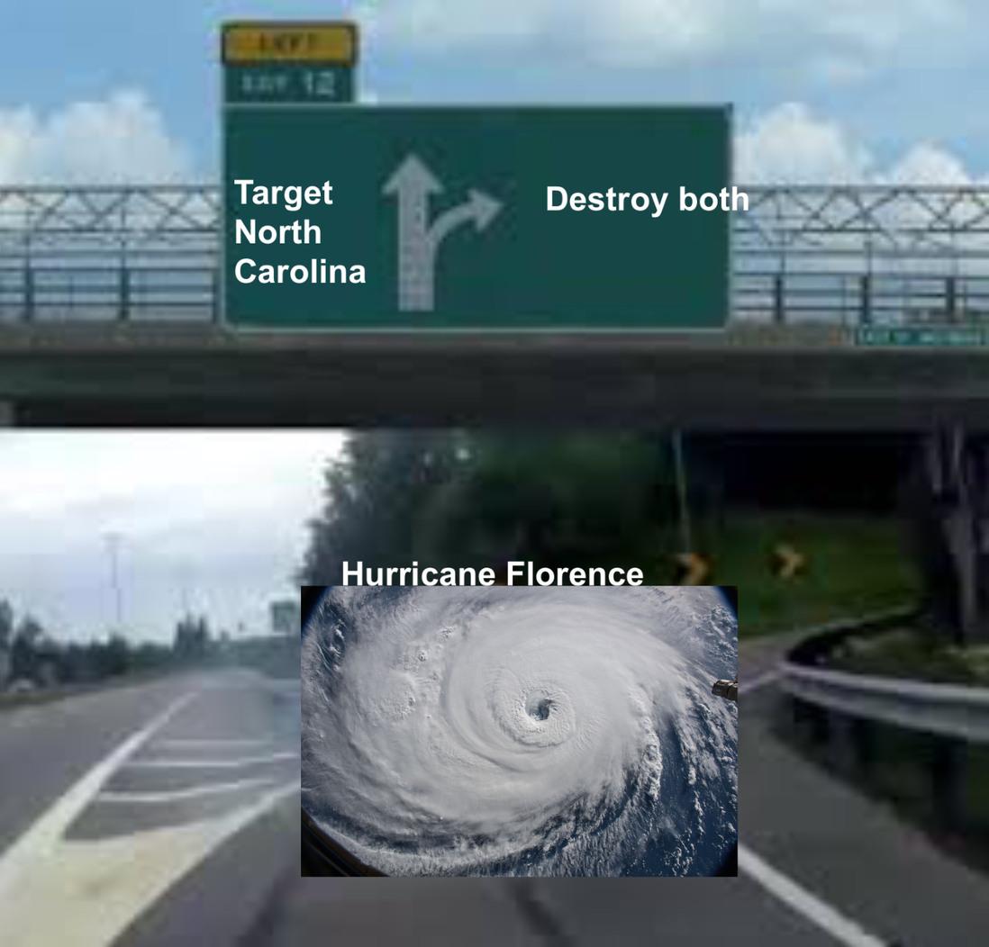 Rip the Carolinas - meme