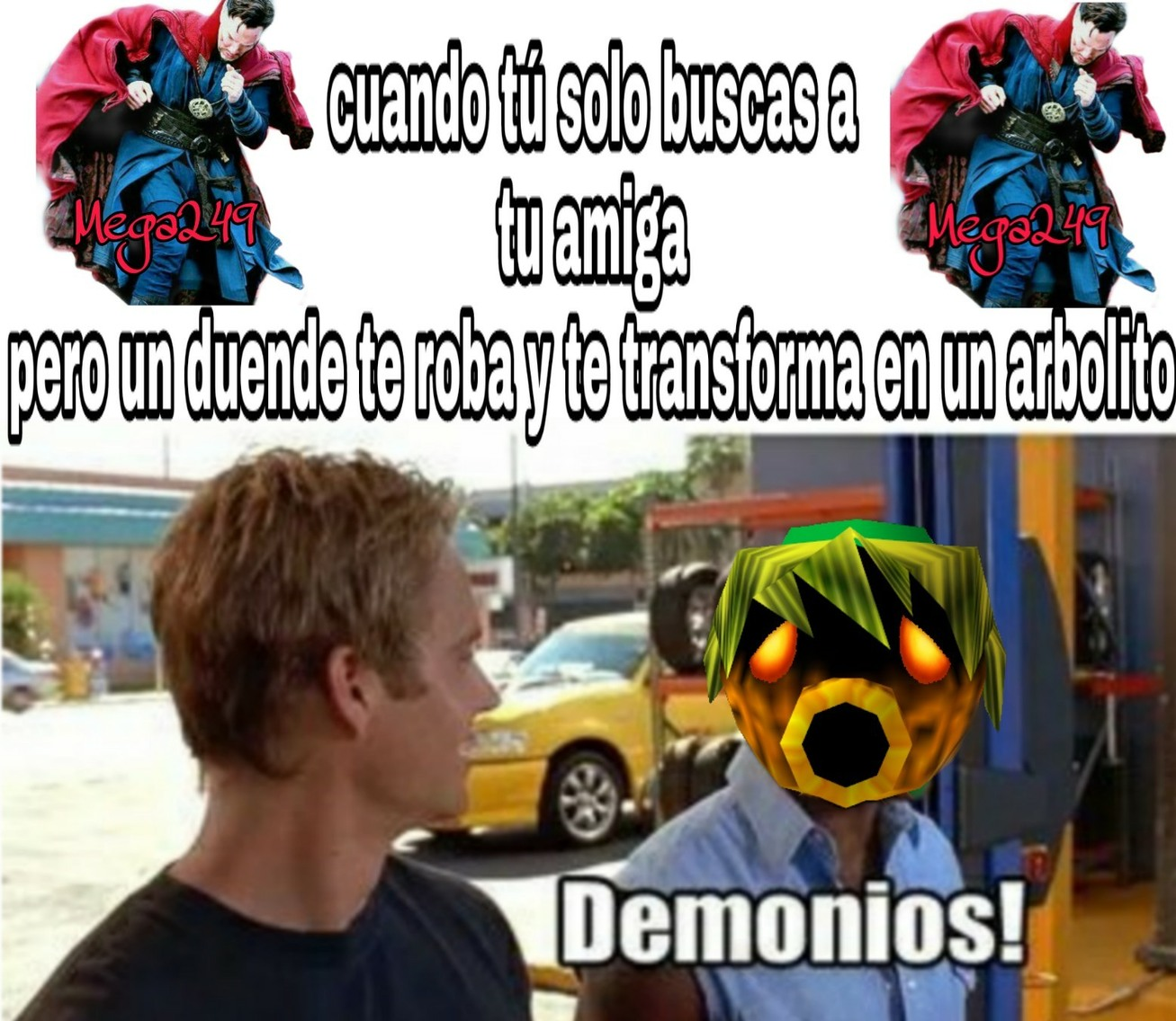 Te encontraste con un terrible destino verdad - meme