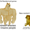 Resident evil supposed to scary you not turning you on