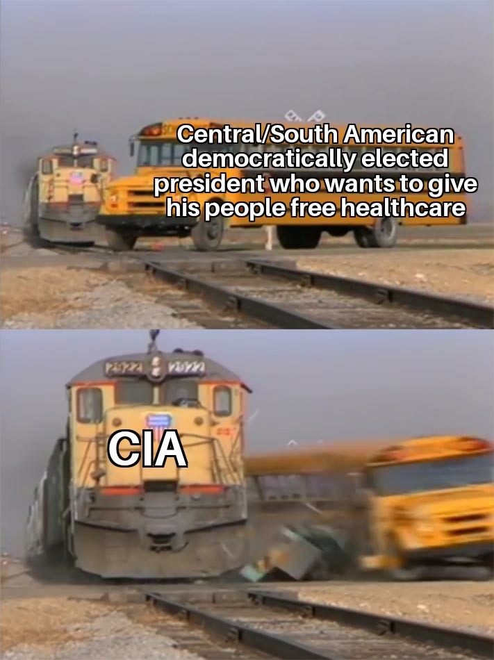 US fucked up everything south of their border - meme