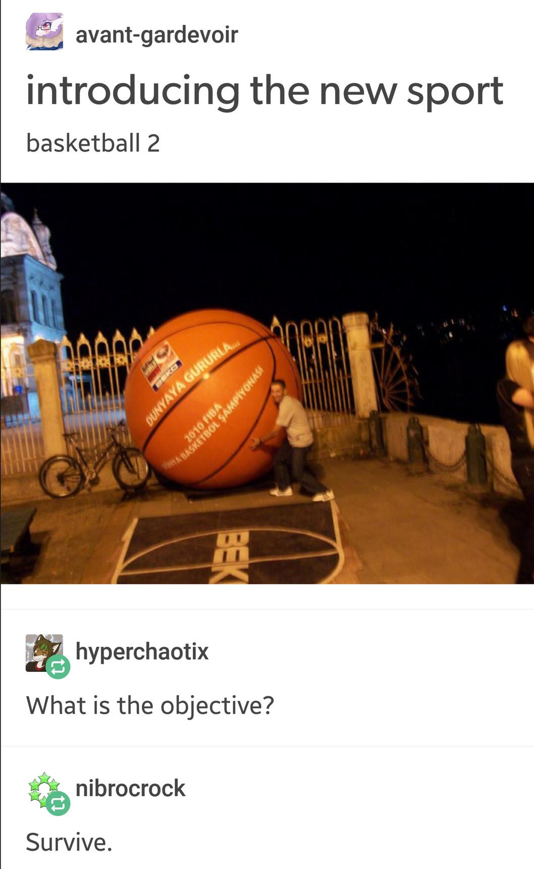 Title playing basketball 2 - meme