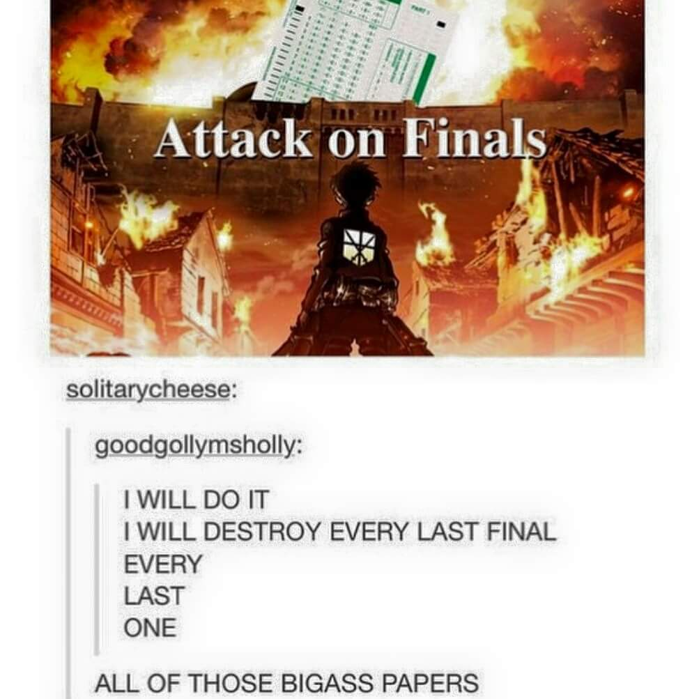 Finals suck - meme