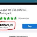 Promoção de carnaval, 0,03% de desconto no curso de Excel!