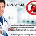The apples are bad