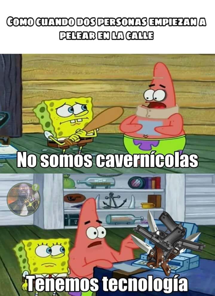 No somos cavernícolas - meme