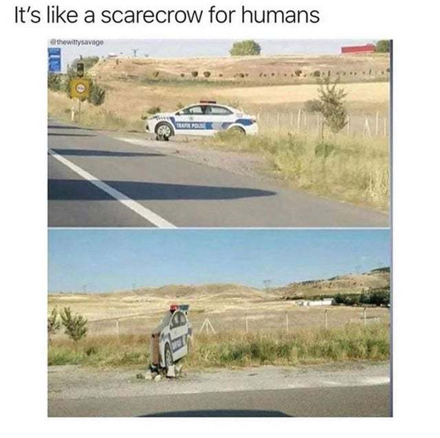 Scarecrow for humans - meme