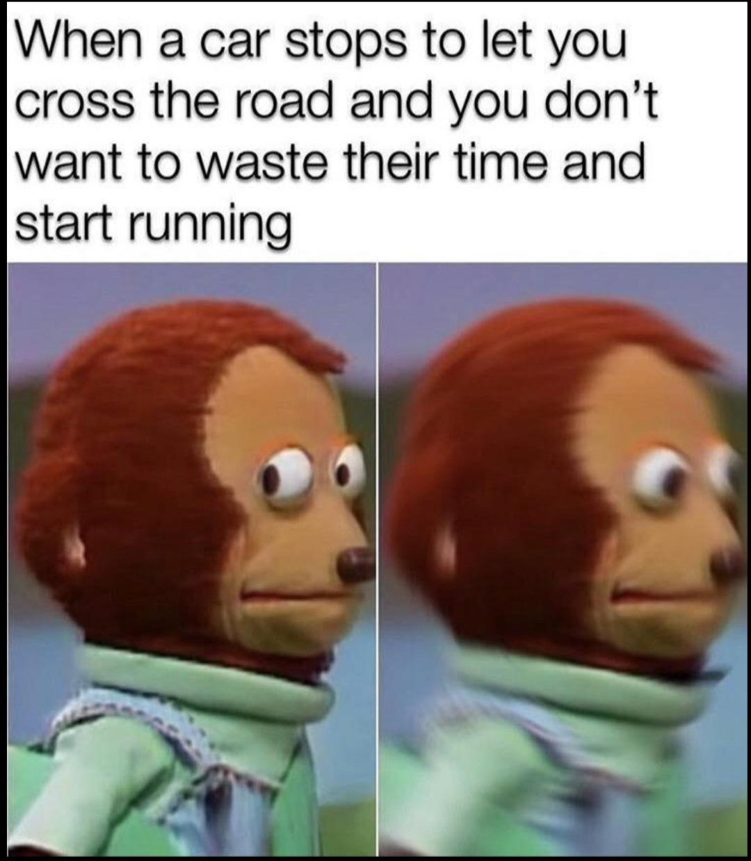 Why are you running? - meme