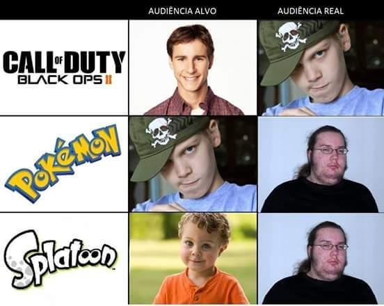 pokemano e splatoon é melhor que cod - meme