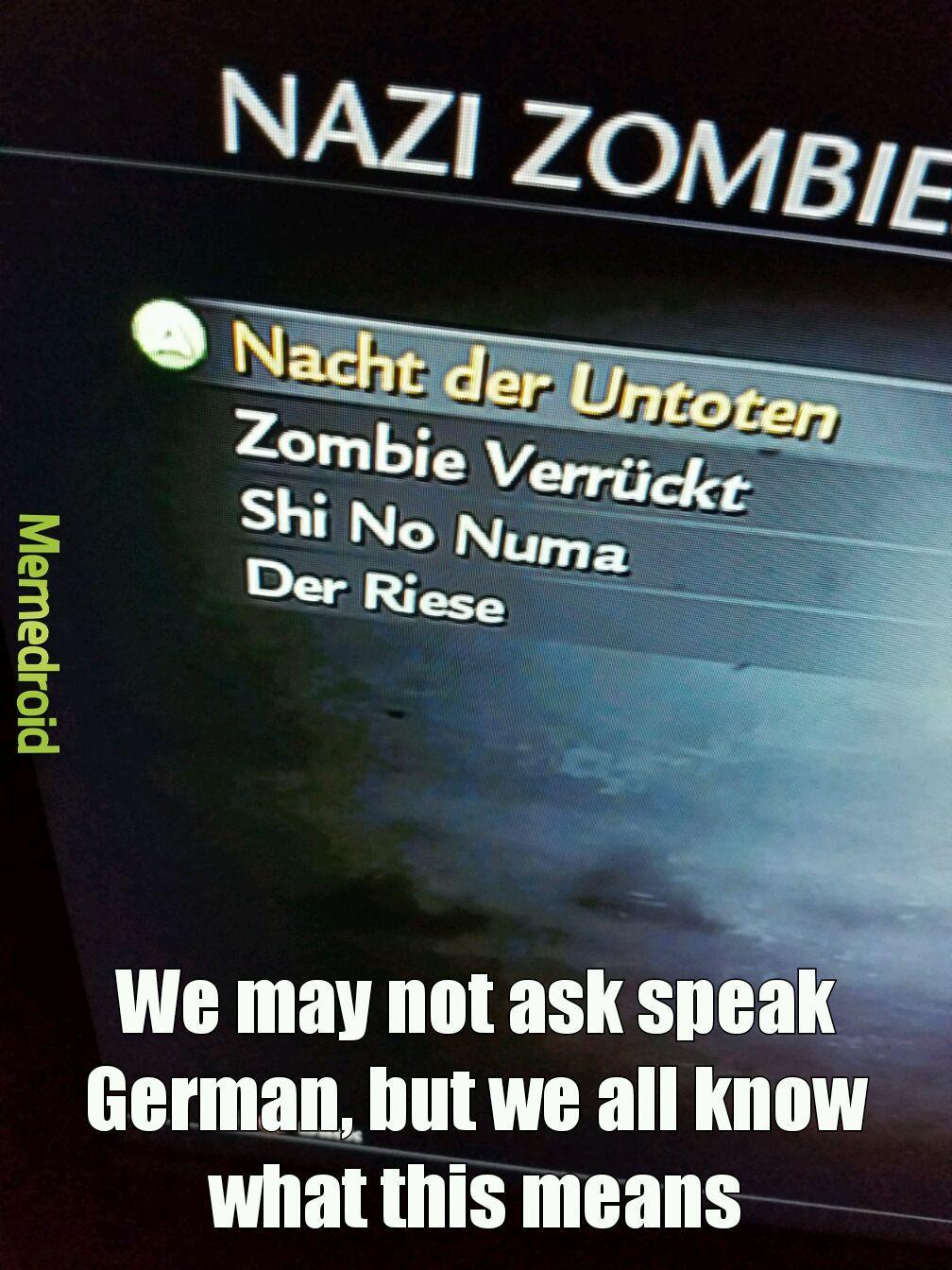 Zombies - meme