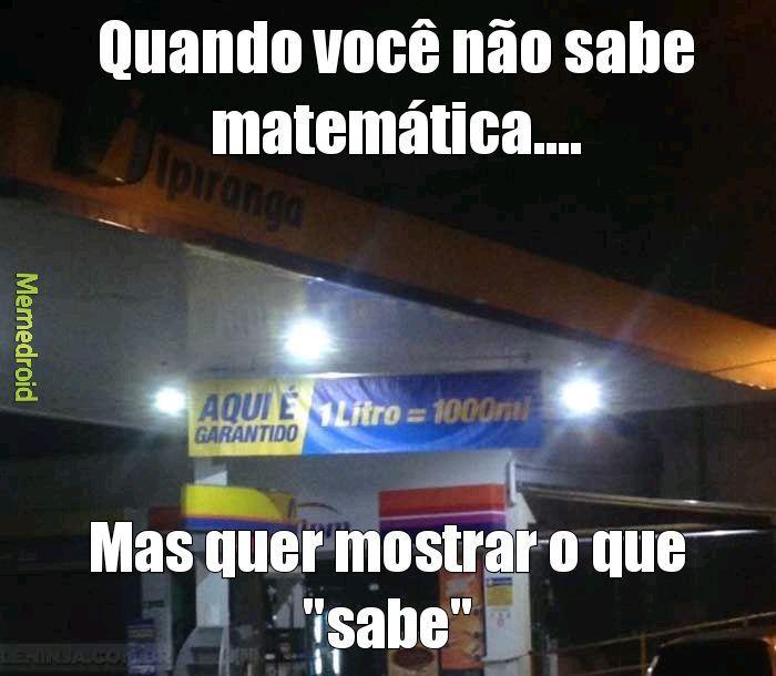 Matemática moderna - meme