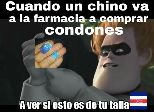 Al fin condones para asiáticos - meme