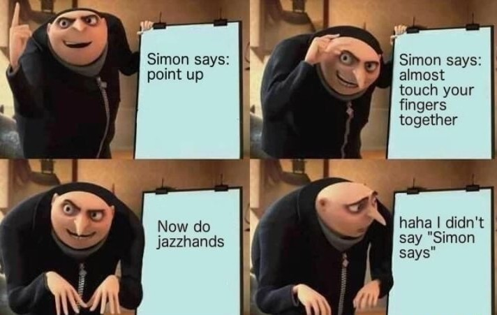 Simon says go fuck yourself - meme