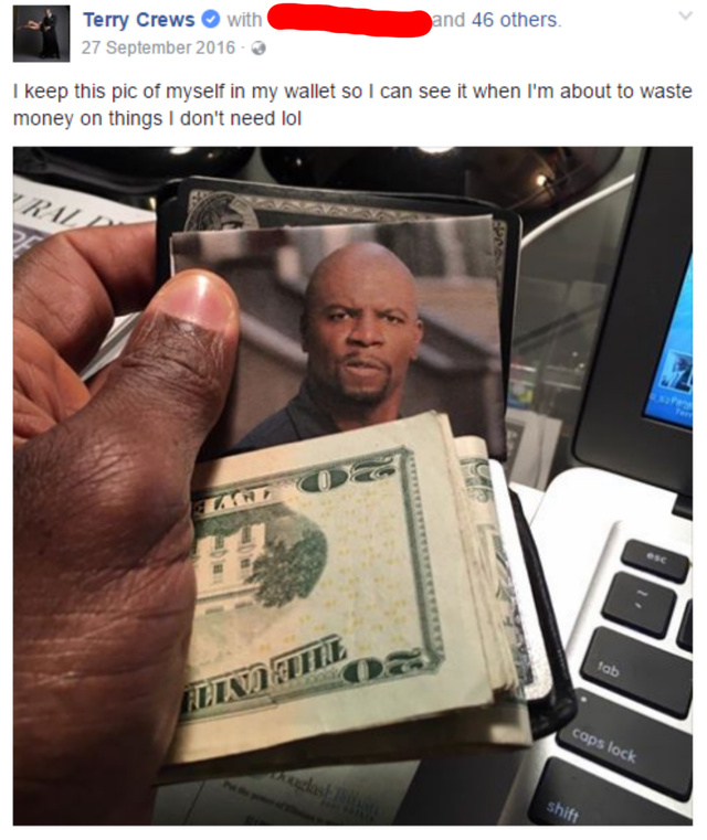 Put a Terry Crew in your Wallet - meme