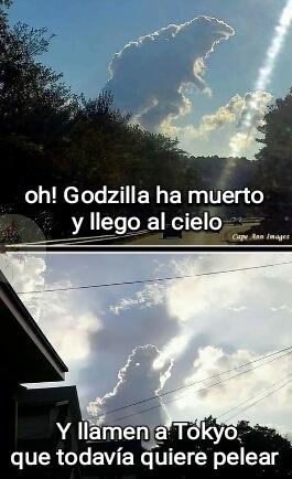 Sí! Veamos Godzilla - meme