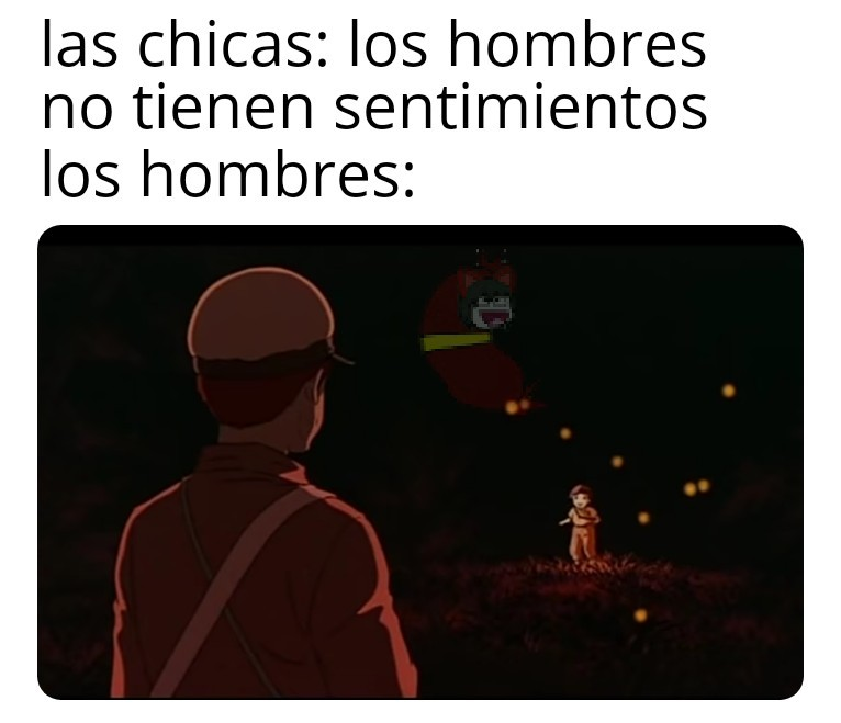 Cementerio de las luciernagas - meme