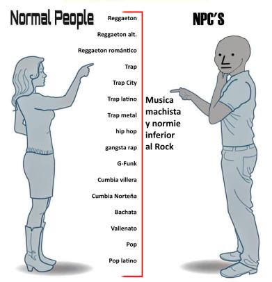 Normal people vs NPC - meme