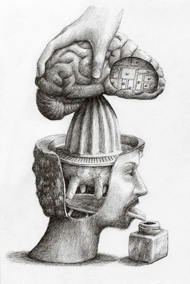 Odd Art - You need a brain squeeze for fresh creative juices! - meme