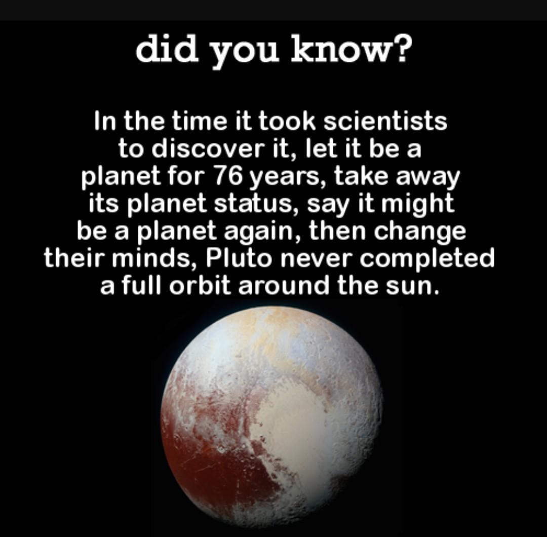 Poor Pluto - meme