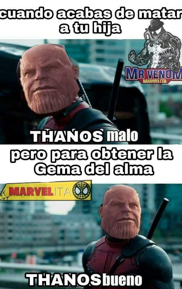 Thanos bueno - meme