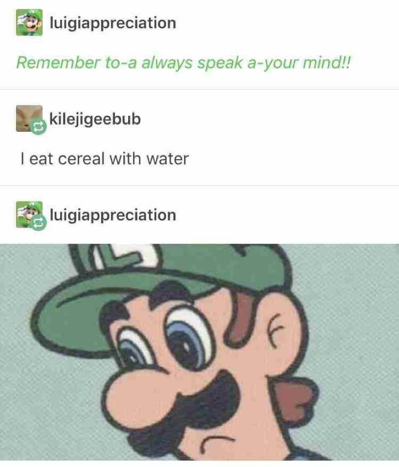 Luigi is disappointed - meme