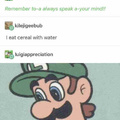 Luigi is disappointed