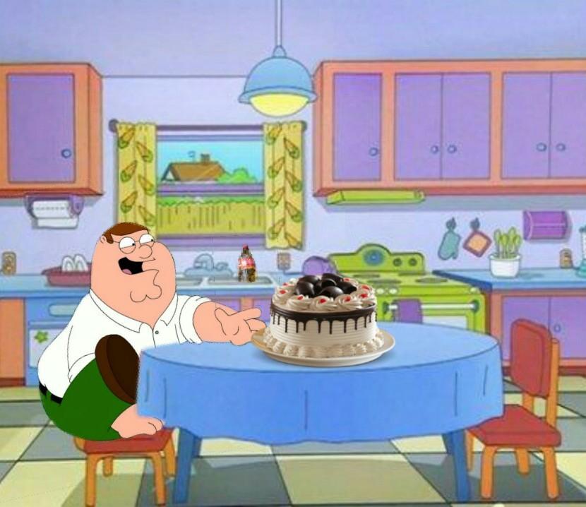 Peter Griffin encontró un pastel - meme