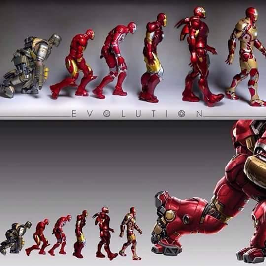Evolución De Iron Man - meme
