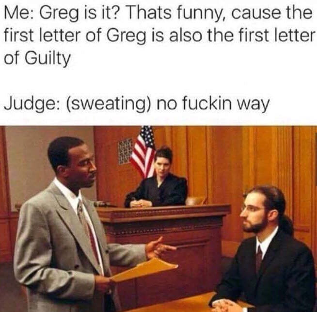Guilty Greg - meme
