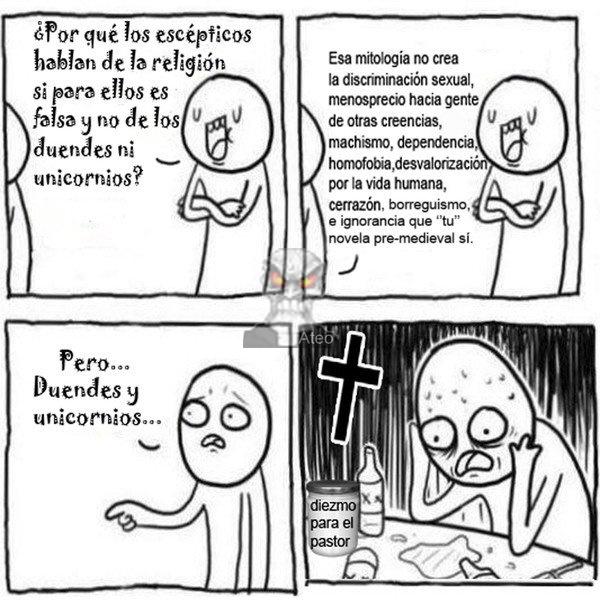 Las locuras religiosas - meme