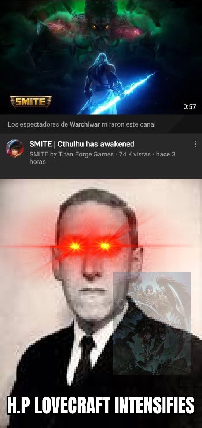 Cthulhu en Smite - meme