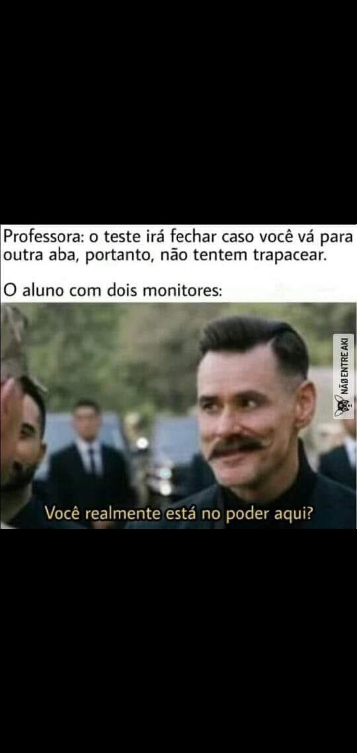 Os professor pira - meme