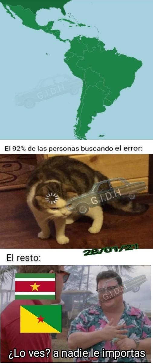Encuentra el error - meme