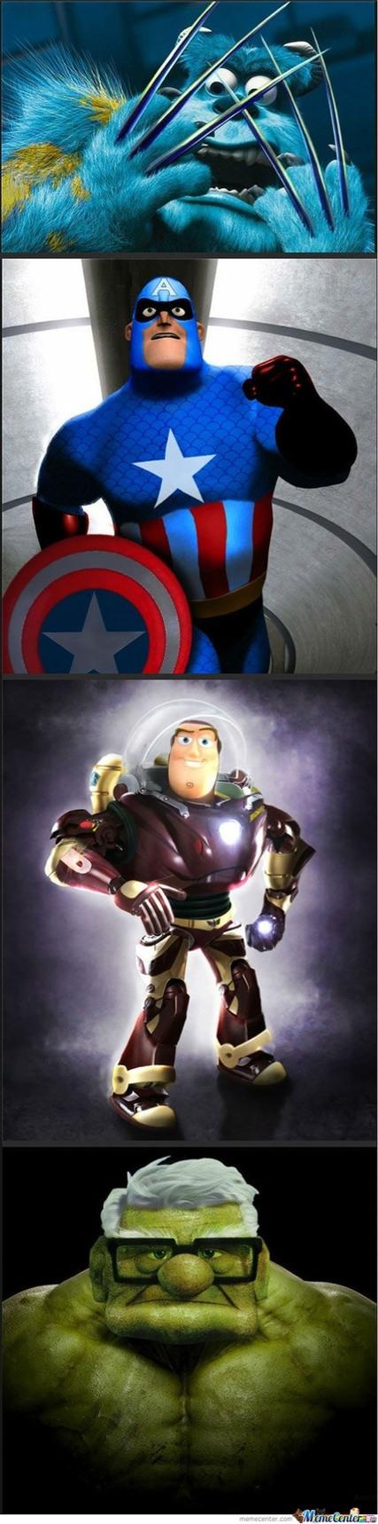 If Pixar made marvel movies - meme