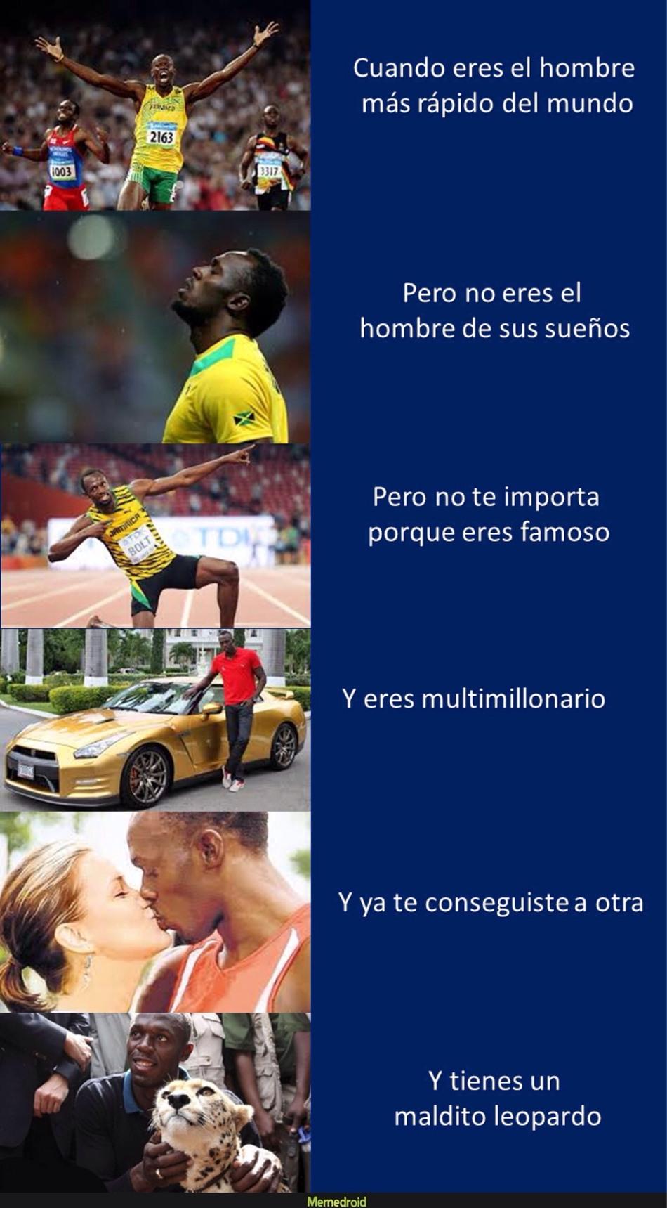 Deal with it! Usain Bolt x2 - meme