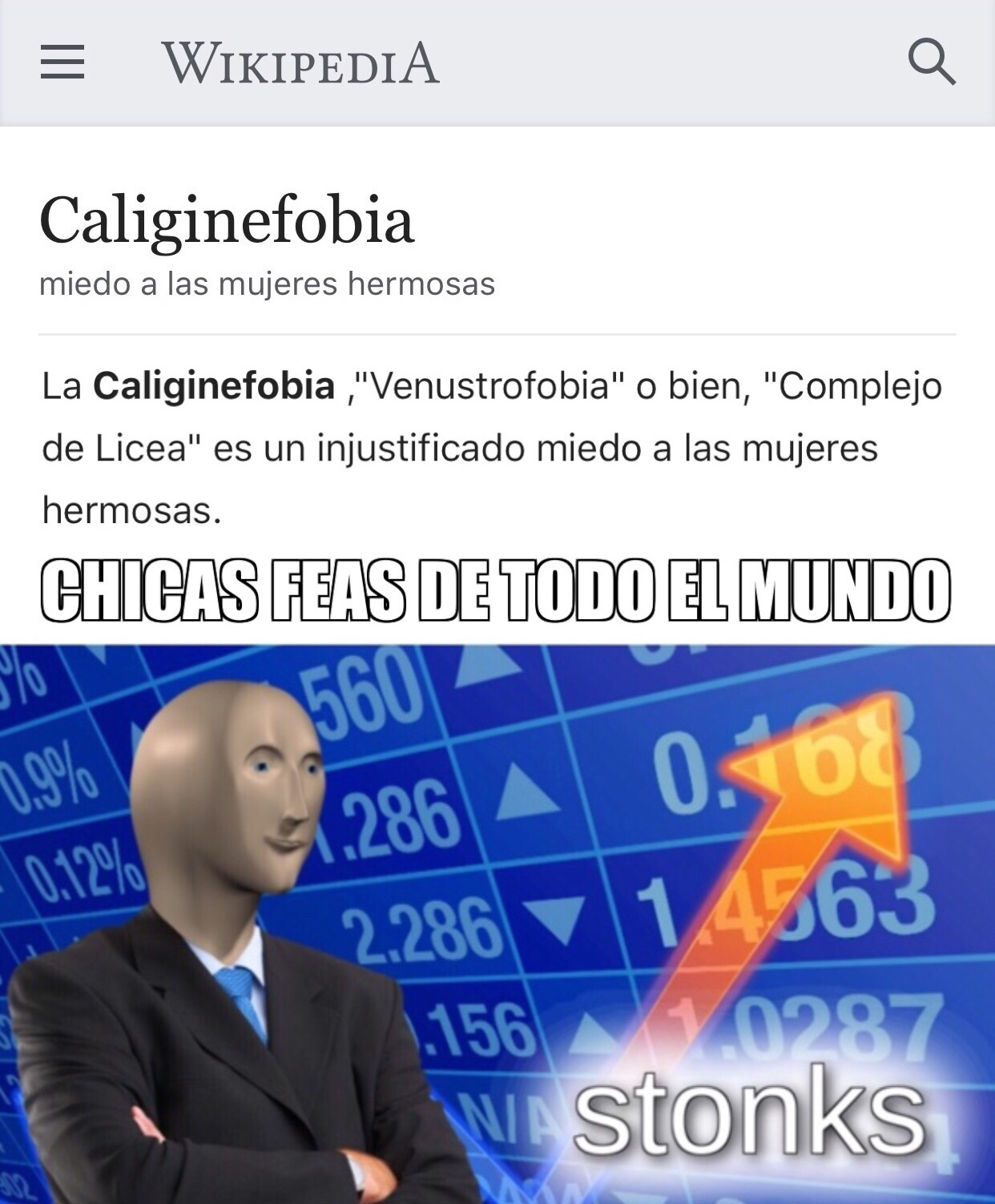 Caliginefobia - meme