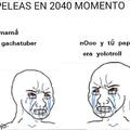 Peleas en 2040 momento
